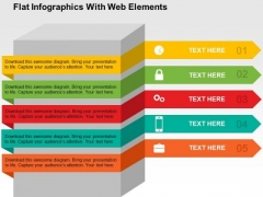 Flat Infographics With Web Elements PowerPoint Templates