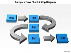 Flow Chart 5 Step Diagram Writing Business Plan For PowerPoint Templates