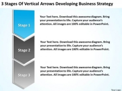 Flow Chart Business Of Vertical Arrows Developing Strategy Ppt PowerPoint Templates