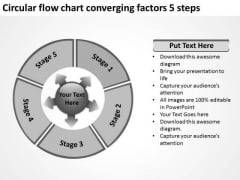 Flow Chart Converging Factors 5 Steps Ppt Circular Process Diagram PowerPoint Templates