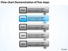 Flow Chart Demonstration Of Five Steps Gas Station Business Plan PowerPoint Templates