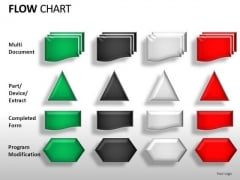 Flow Chart Process Symbols Stages PowerPoint Icons