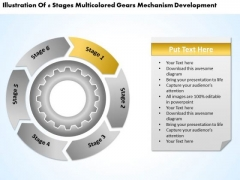 Flow Chart With Gears Consulting Business Plan Template PowerPoint Templates