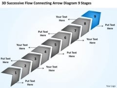 Flow Connecting Arrow Diagram 9 Stages Ppt Personal Training Business Plan PowerPoint Templates