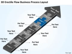Flow Free Business PowerPoint Templates Process Layout Bussiness Plan