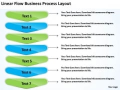 Flow Free Business PowerPoint Templates Process Layout Schematic