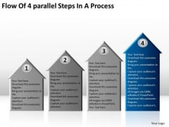 Flow Of 4 Parallel Steps In Process Ppt How To Develop Business Plan PowerPoint Templates