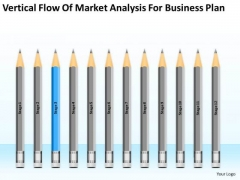 Flow Of Market Analysis For Business Plan Ppt Building PowerPoint Templates