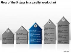 Flow Of The 5 Steps In A Parallel Work Chart Business Development Plans PowerPoint Templates