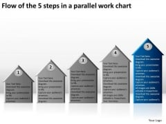 Flow Of The 5 Steps In A Parallel Work Chart Ppt Business Plans For Dummies PowerPoint Slides