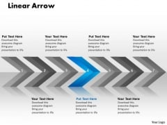 Flow PowerPoint Template Linear Arrows 7 Stages Communication Skills Design