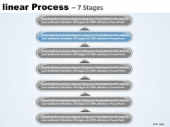 Flow PowerPoint Template Linear Process 7 Stages Business Communication Ppt Image