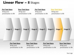 Flow PowerPoint Template Parellel Demonstration Of 7 Concepts Graphics