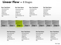Flow PowerPoint Template Parellel Representation Of 8 Issues Design
