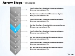 Flow Ppt Arrow 8 Power Point Stages Business Communication PowerPoint 5 Image
