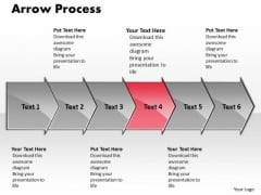Flow Ppt Background Arrow Process 6 States Diagram Business Strategy PowerPoint 5 Design