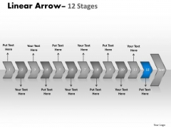 Flow Ppt Background Serialized Representation Of 12 Arrows 13 Graphic