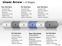 Flow Ppt Linear Arrow 6 State Diagram Time Management PowerPoint 5 Graphic
