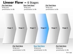 Flow Ppt Straight Demonstration Of 6 Power Point Stage Project Management PowerPoint 5 Design