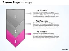 Flow Ppt Template Arrow 3 Stages 1 Project Management PowerPoint 4 Graphic