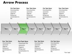 Flow Ppt Template Arrow Procurement Process Representation Resources 8 Stages 4 Image