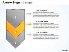 Flow Ppt Vertical Arrow Steps Working With Slide Numbers Description 3 Design