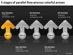 Flow Process Colorful Arrows Free Printable Business Plan Templates PowerPoint Slides