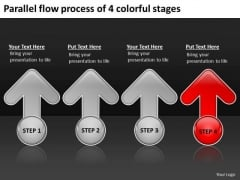 Flow Process Of 4 Colorful Stages Ppt How To Structure Business Plan PowerPoint Slides