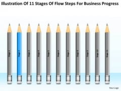 Flow Steps For Business Progress Ppt Small Plans Dummies PowerPoint Templates