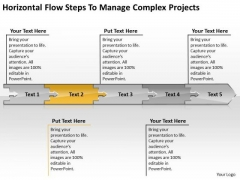Flow Steps To Manage Complex Projects Chart Electrical Schematic PowerPoint Free Slides