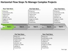 Flow Steps To Manage Complex Projects Electrical Schematic PowerPoint Free Slides