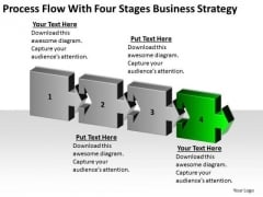 Flow With Four Stages Marketing Concepts Business Plan Template Free PowerPoint Templates