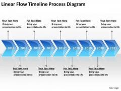 Flowchart For Business Linear Timeline Process Diagram PowerPoint Templates