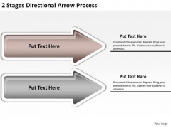 Flowchart Parallel Process 2 Stages Directional Arrow PowerPoint Templates