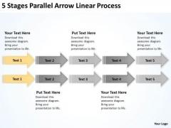 Flowchart Parallel Process Linear PowerPoint Templates Backgrounds For Slides