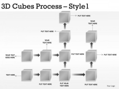 Flowchart PowerPoint Slide With 3d Cubes Stages PowerPoint Diagram