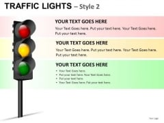 Forbidden Traffic Light PowerPoint Slides And Ppt Diagram Templates