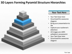 Forming Pyramid Structure Hierarchies Ppt Construction Business Plan Template PowerPoint Slides