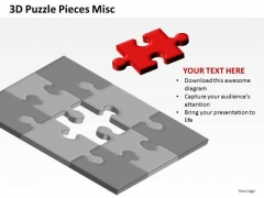 Found The Solution Missing Puzzle Piece PowerPoint Slides And Ppt Diagram Templates