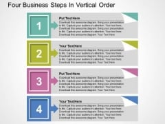 Four Business Steps In Vertical Order PowerPoint Templates