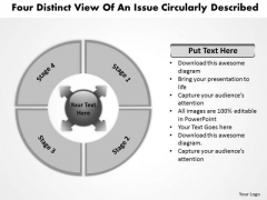 Four Distinct View Of An Issue Circularly Described Cycle Arrow Process PowerPoint Slides