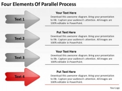 Four Elements Of Parallel Process Business Planning Template PowerPoint Slides