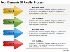 Four Elements Of Parallel Process Business Proposal Examples PowerPoint Slides