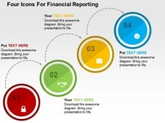 Four Icons For Financial Reporting PowerPoint Template
