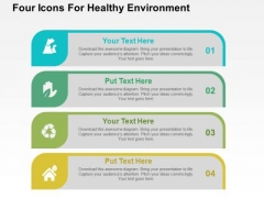 Four Icons For Healthy Environment PowerPoint Templates