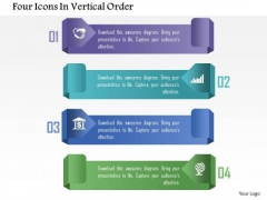 Four Icons In Vertical Order PowerPoint Template