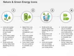 Four Linear Icons Of Green Energy With Battery Cfl And Plug Symbols Ppt Slides Graphics
