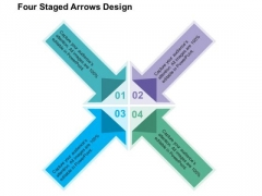 Four Staged Arrows Design PowerPoint Templates