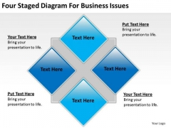 Four Staged Diagram For Business Issues Ppt Plan Download PowerPoint Templates