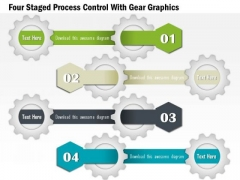Four Staged Process Control With Gear Graphics Presentation Template